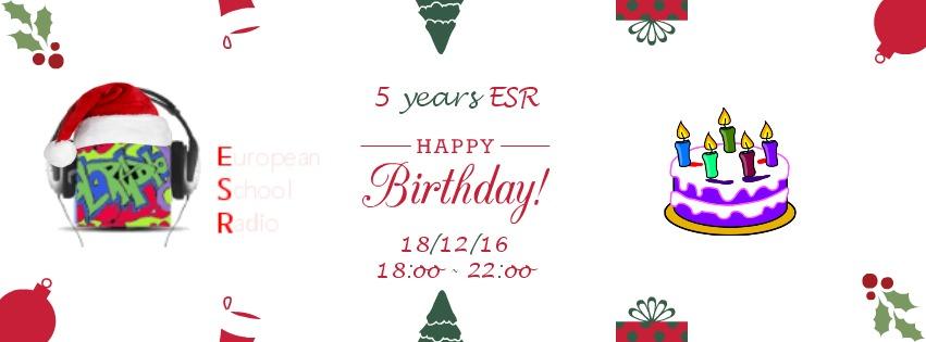 5α Γενέθλια ESR – Είστε όλοι καλεσμένοι την Κυριακή στις 18:00 για να γιορτάσουμε μαζί !!!